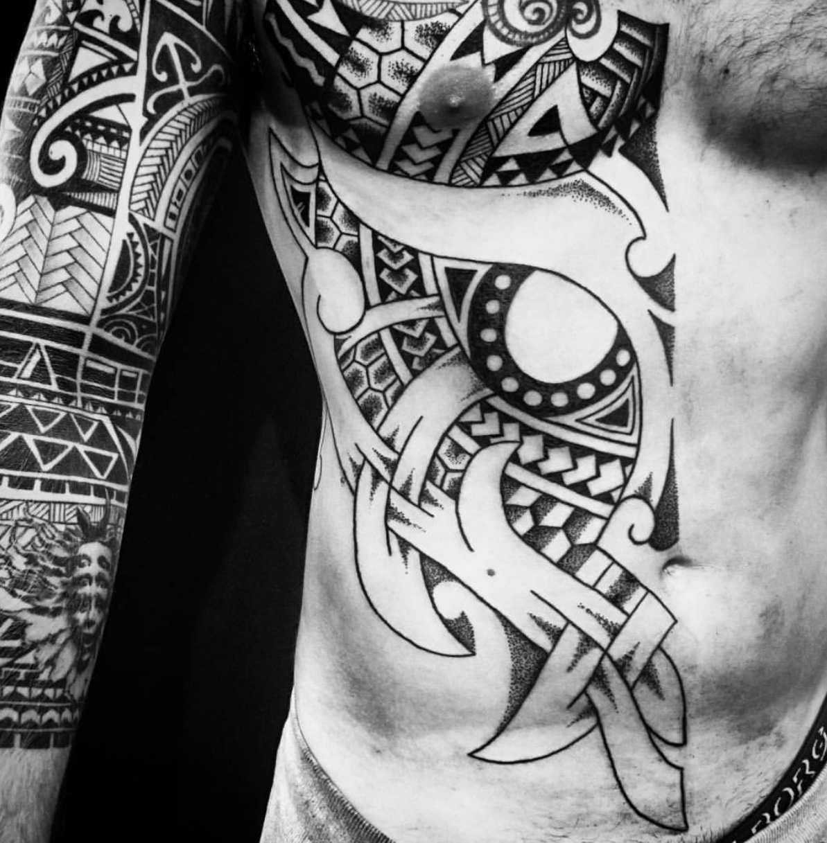 godmask tattoo viking nordic